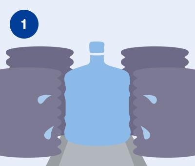 ボトル外面の洗浄